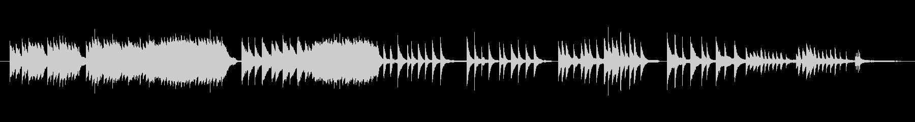 童謡『故郷』を優しくピアノソロでの未再生の波形
