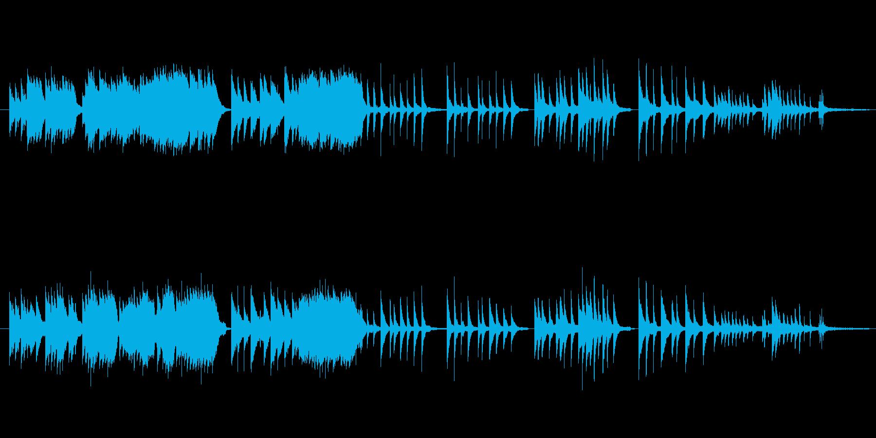童謡『故郷』を優しくピアノソロでの再生済みの波形
