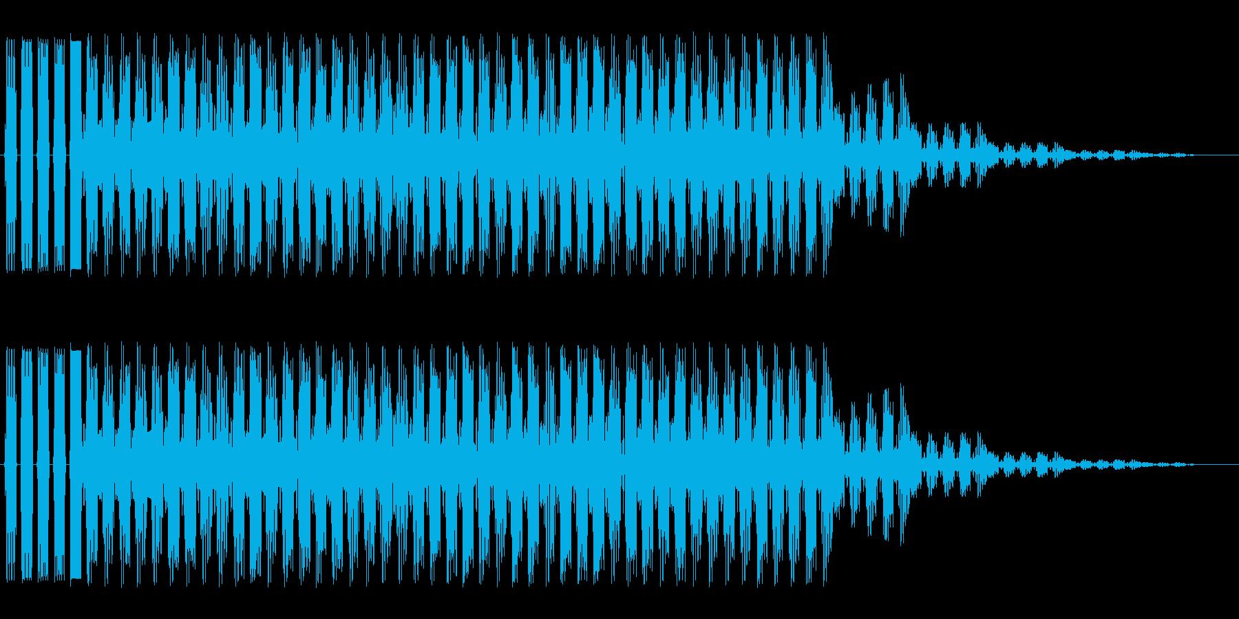 キュロロロ(データ読込・転送のイメージ)の再生済みの波形