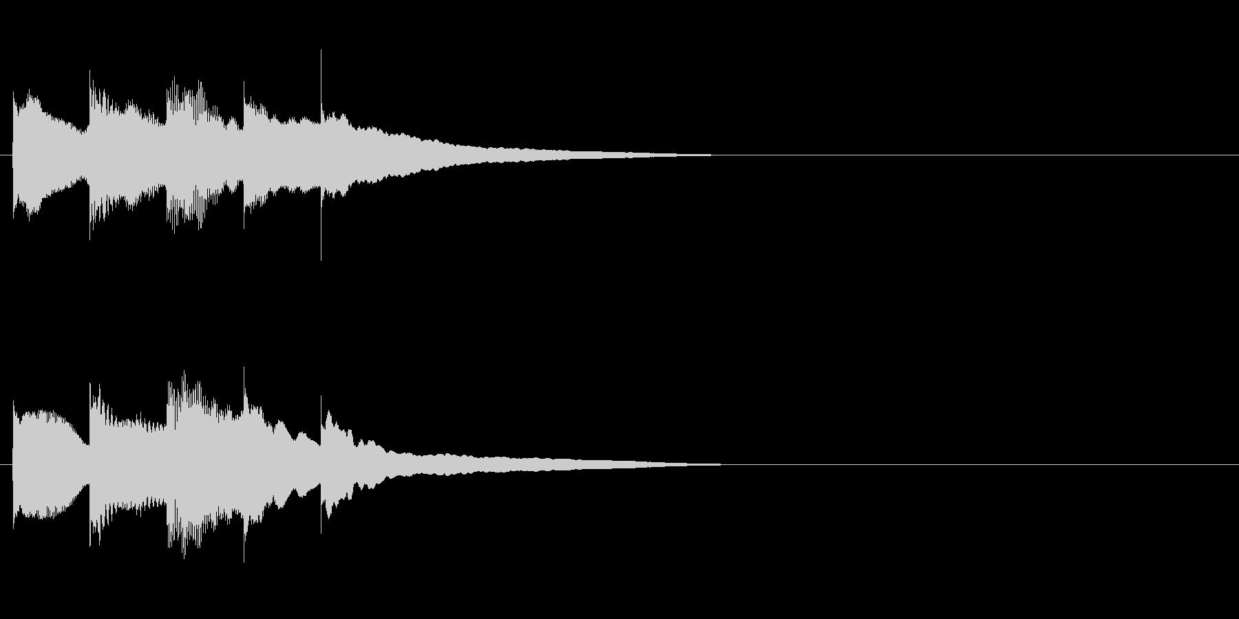優しく可愛いサウンドロゴ・ジングルの未再生の波形