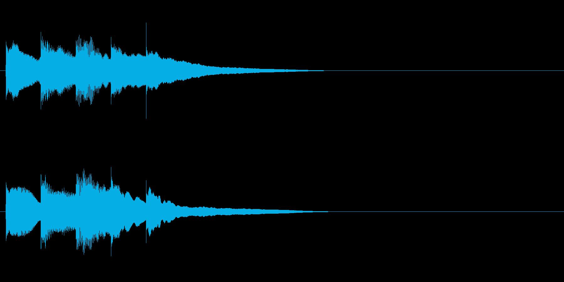 優しく可愛いサウンドロゴ・ジングルの再生済みの波形
