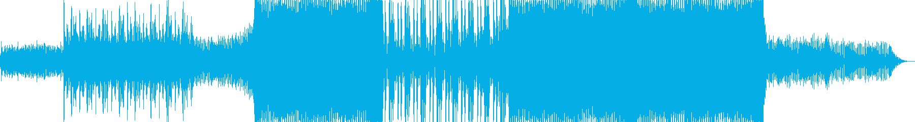 浮遊感のあるシンセの音が特徴のテクノの再生済みの波形