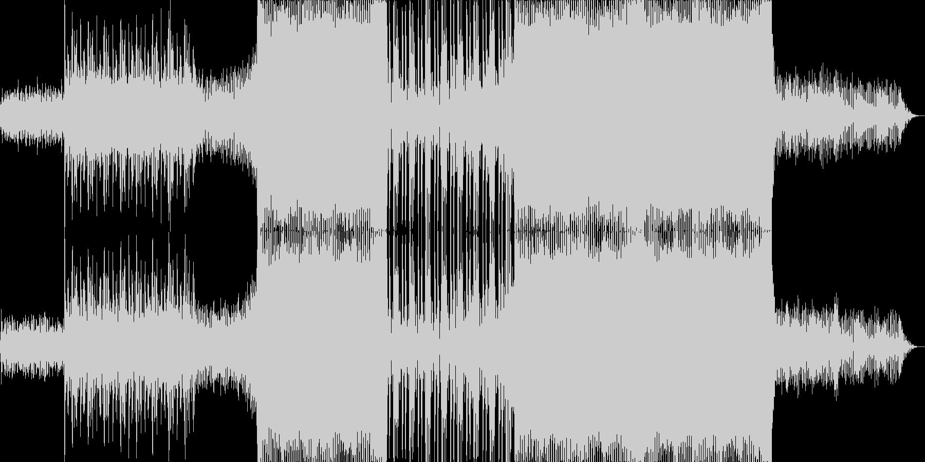 浮遊感のあるシンセの音が特徴のテクノの未再生の波形