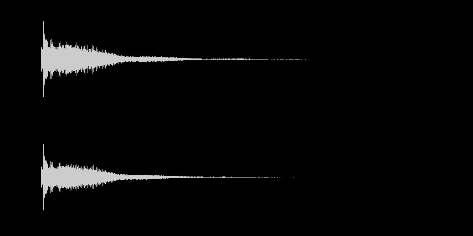 カーン(鐘、金属)の未再生の波形