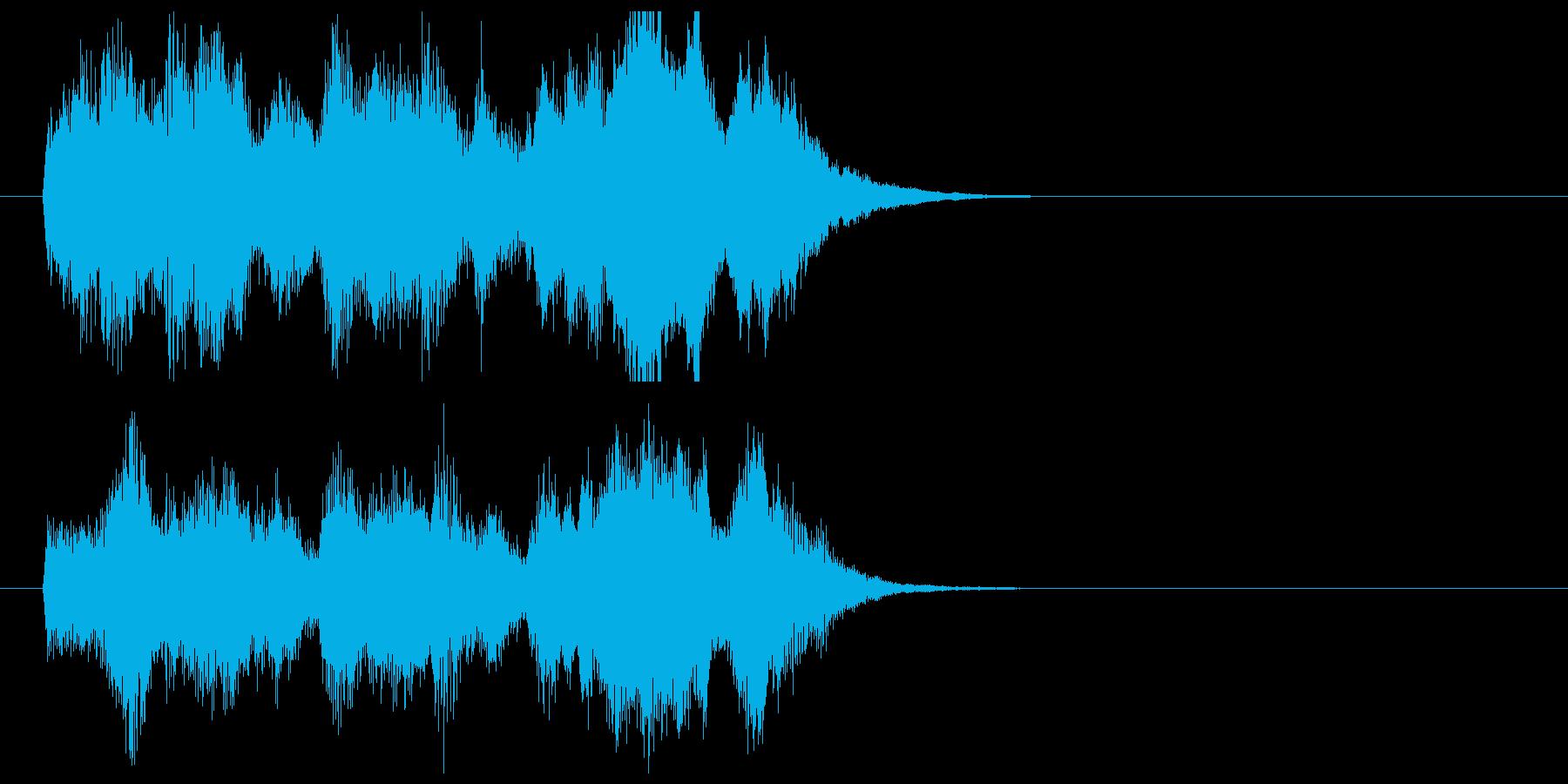 ポップでキャッチ―シンセジングルの再生済みの波形