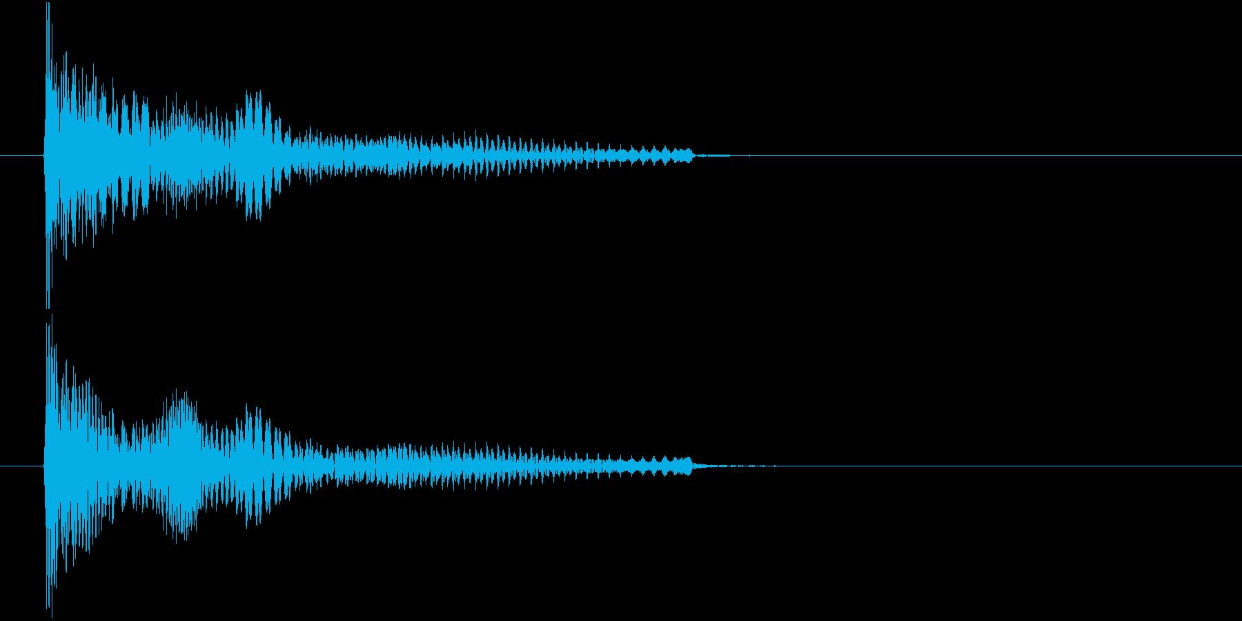 ぽーよよん、と下がる音です。の再生済みの波形
