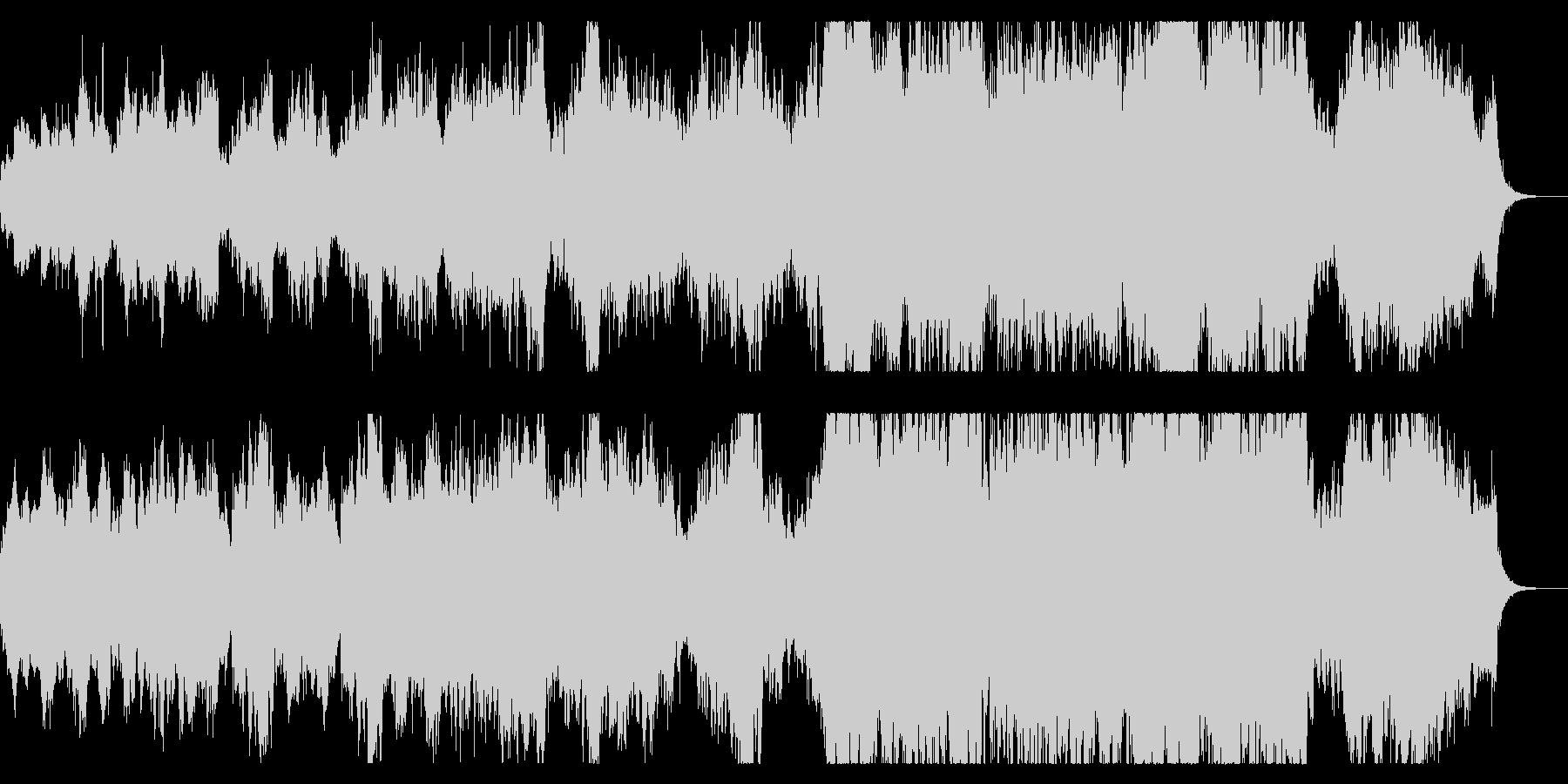 エンディング向けファンタジックなBGMの未再生の波形