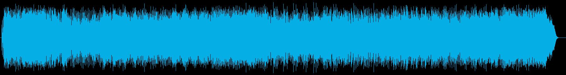 爽やかで疾走感のあるシンセサウンドの再生済みの波形