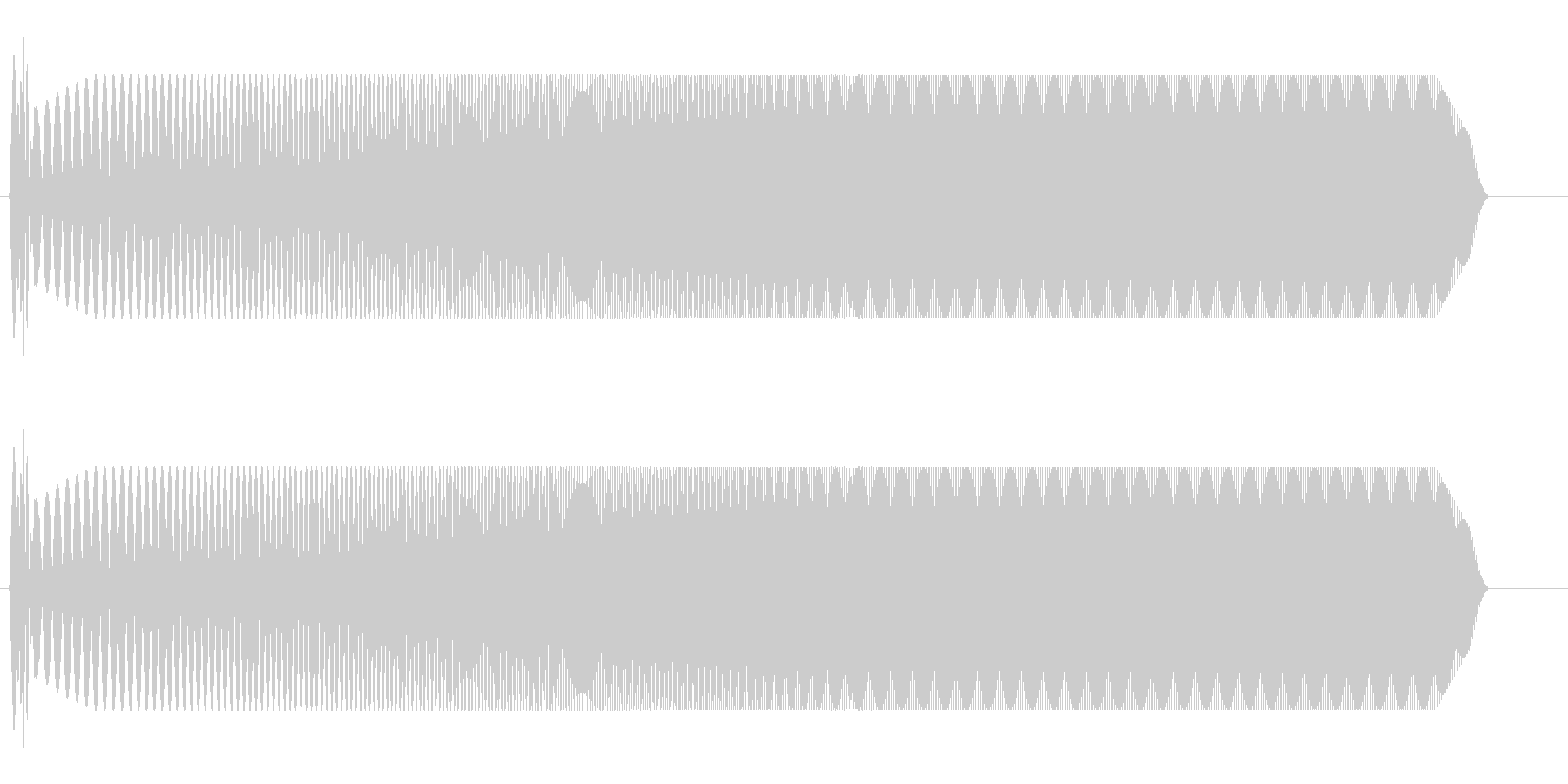 ウィィィィ〜ン(自動ドアが開閉する音)の未再生の波形