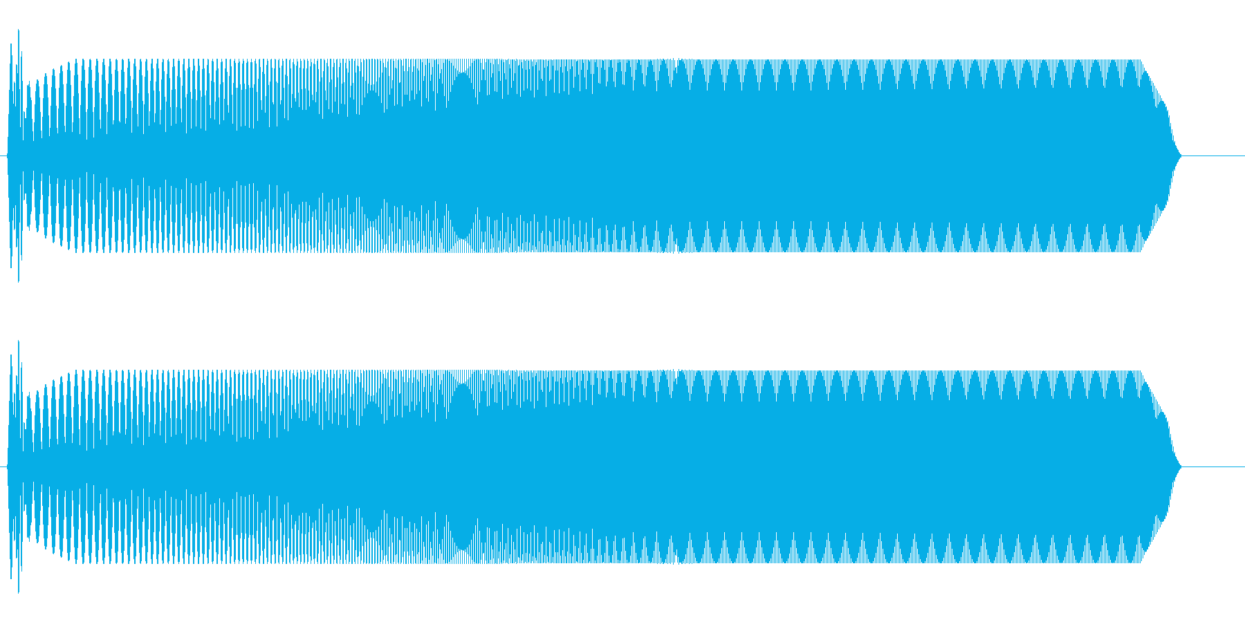 ウィィィィ〜ン(自動ドアが開閉する音)の再生済みの波形