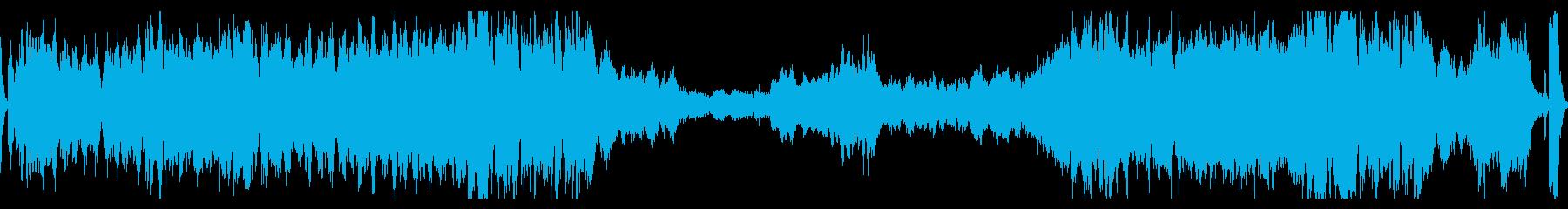 和風/大河ドラマ風雄大なフルオーケストラの再生済みの波形