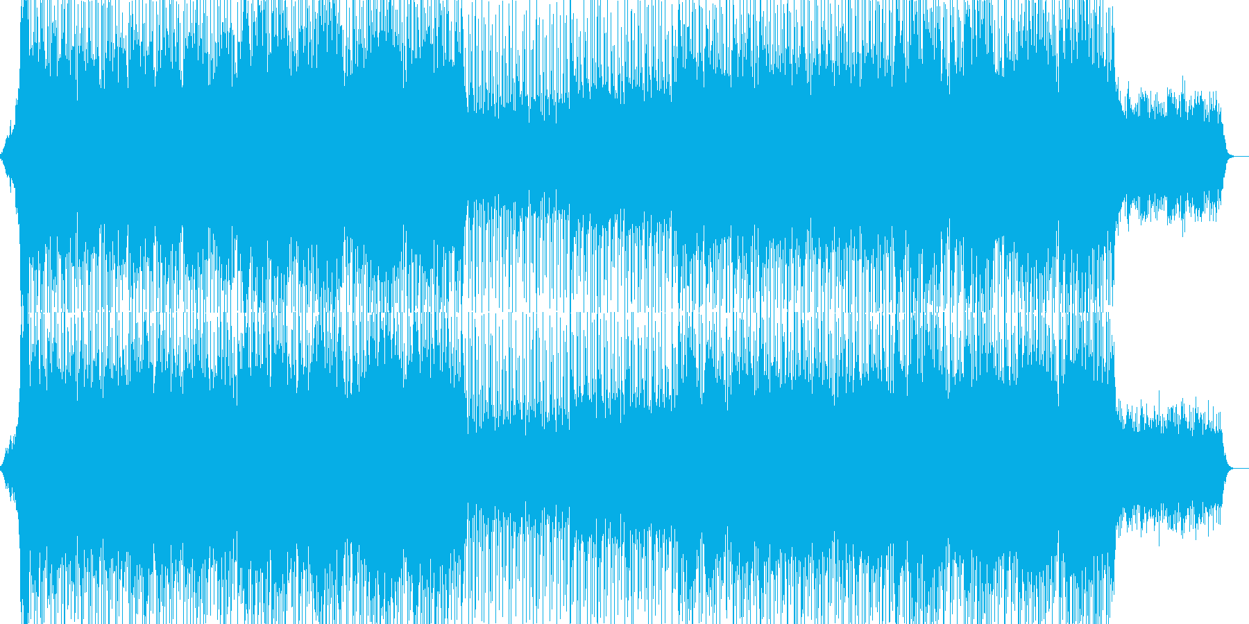 EDM明るいクラブ系キラキラシンセ-01の再生済みの波形