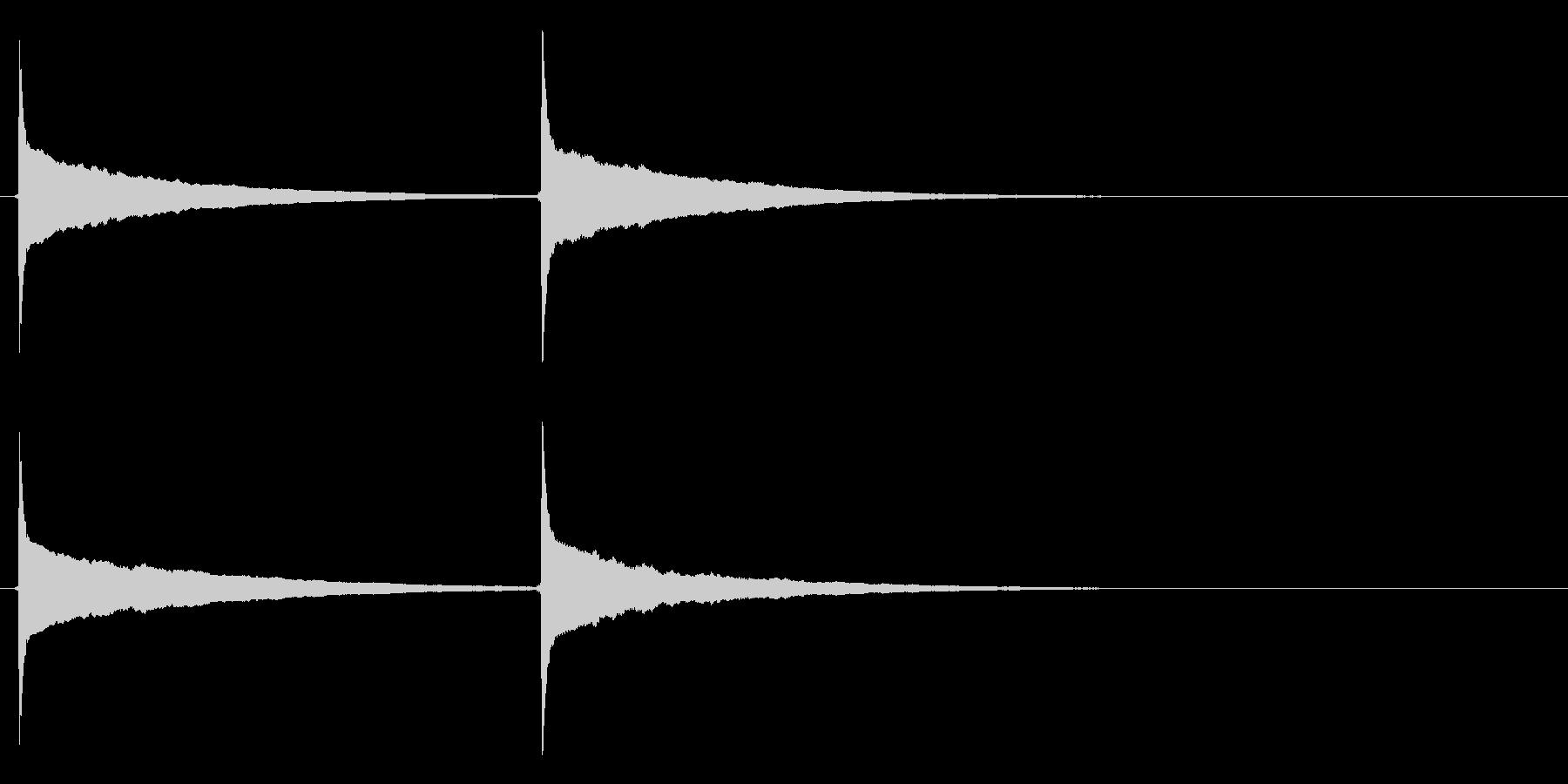 ピンポン (3)の未再生の波形