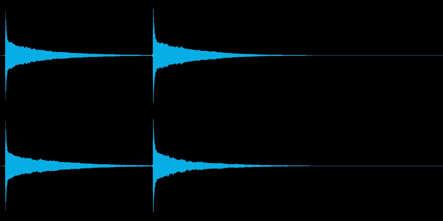 ピンポン (3)の再生済みの波形
