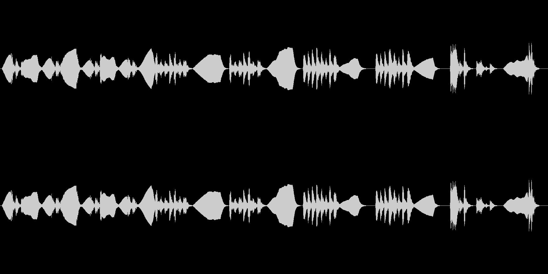ファゴットソロのゆる~い曲の未再生の波形