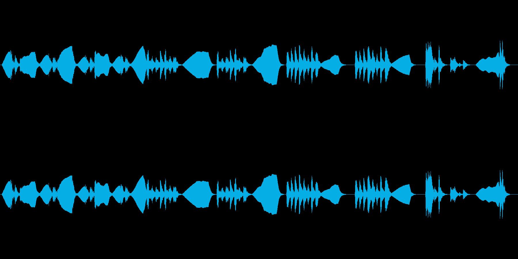 ファゴットソロのゆる~い曲の再生済みの波形