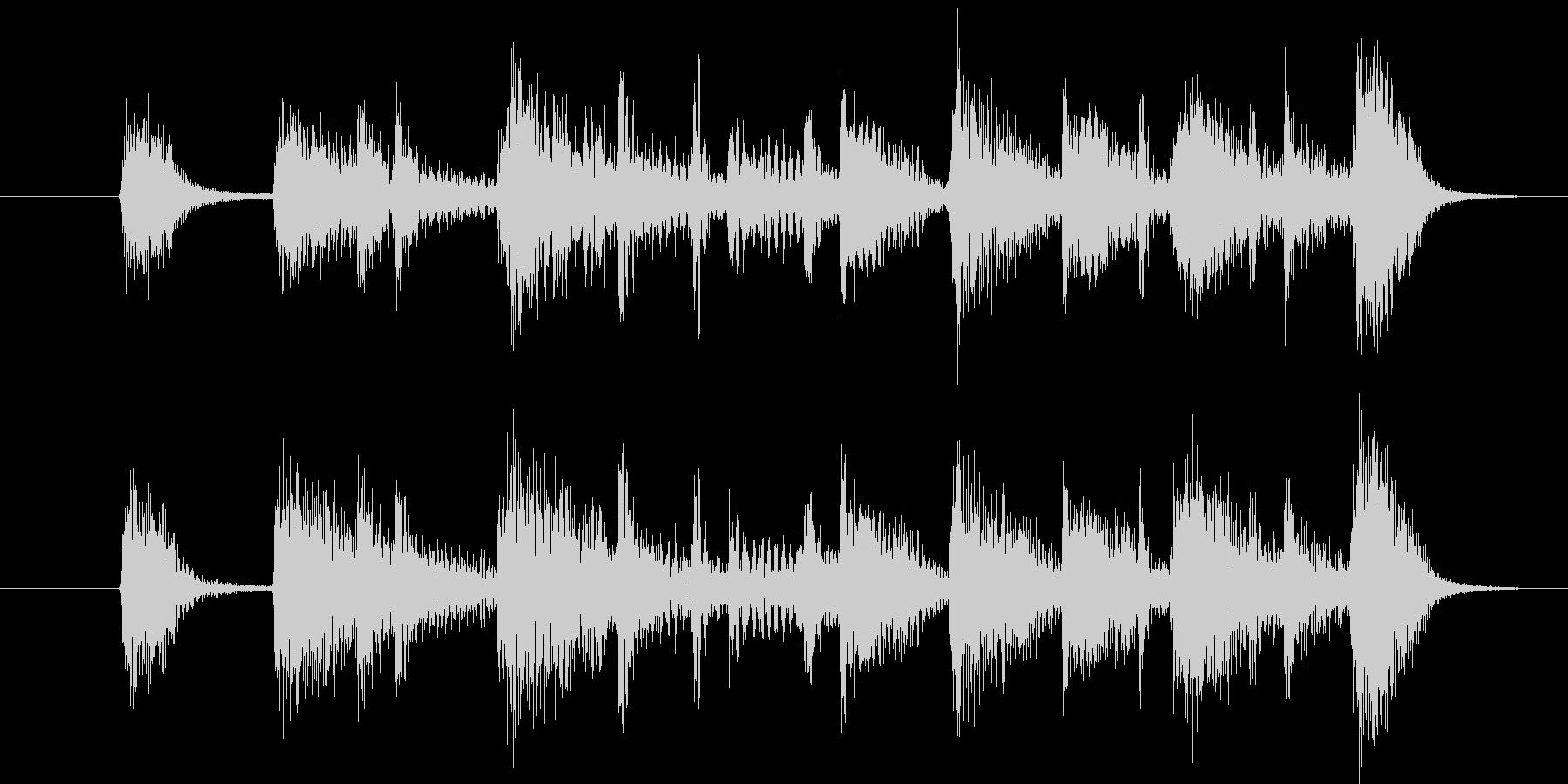 短いジャズ・ジングルの未再生の波形
