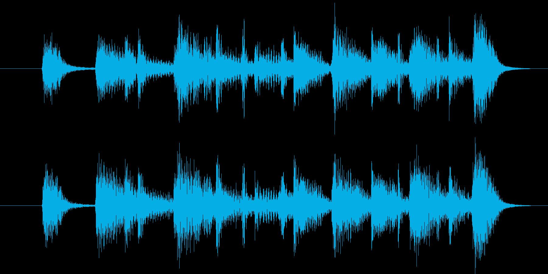 短いジャズ・ジングルの再生済みの波形