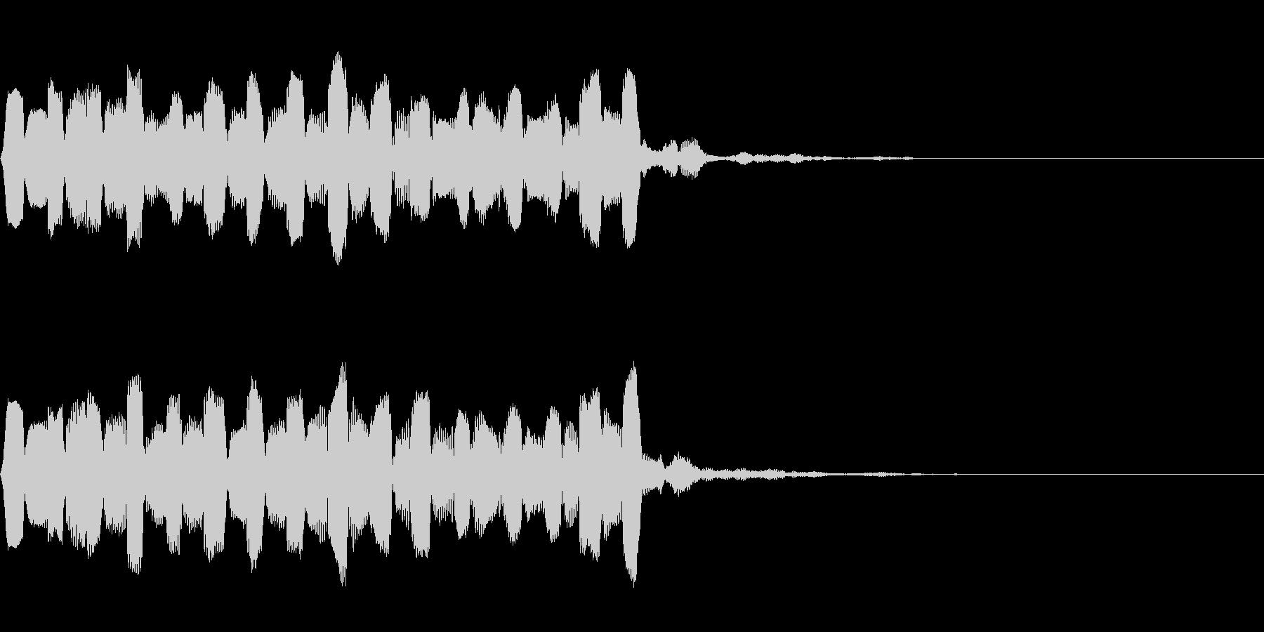 高音でやわらかいピヨピヨした音の未再生の波形