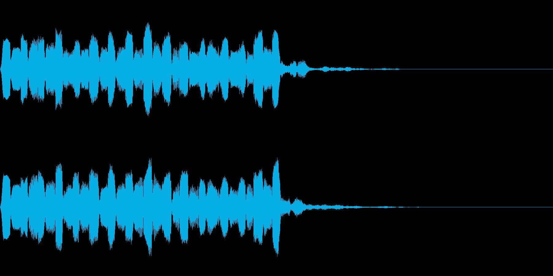 高音でやわらかいピヨピヨした音の再生済みの波形