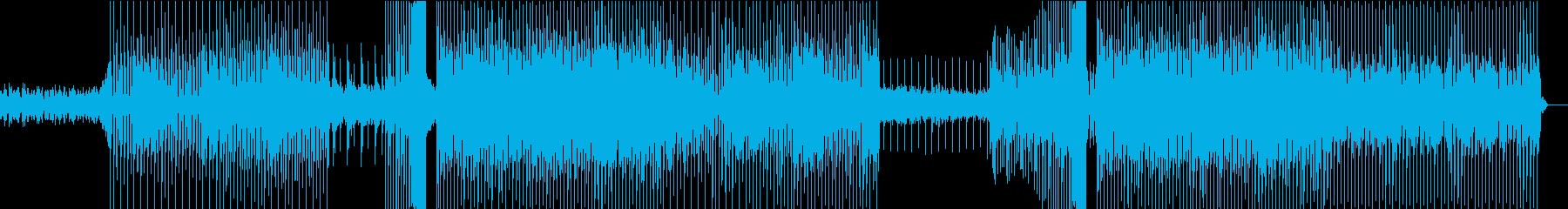 ダークな雰囲気と特徴的な声の再生済みの波形