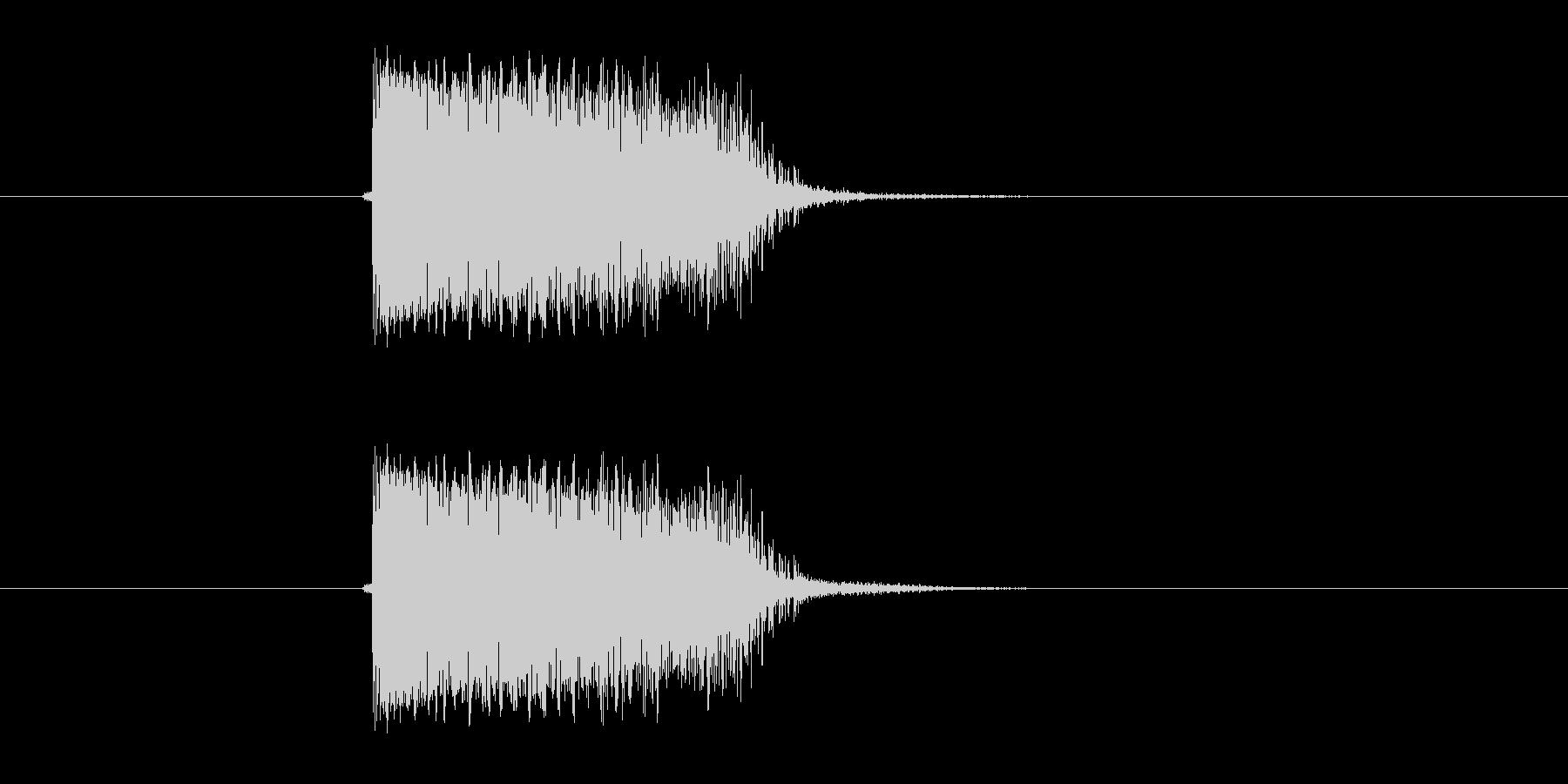シンプルギター音(弦、弾く)の未再生の波形