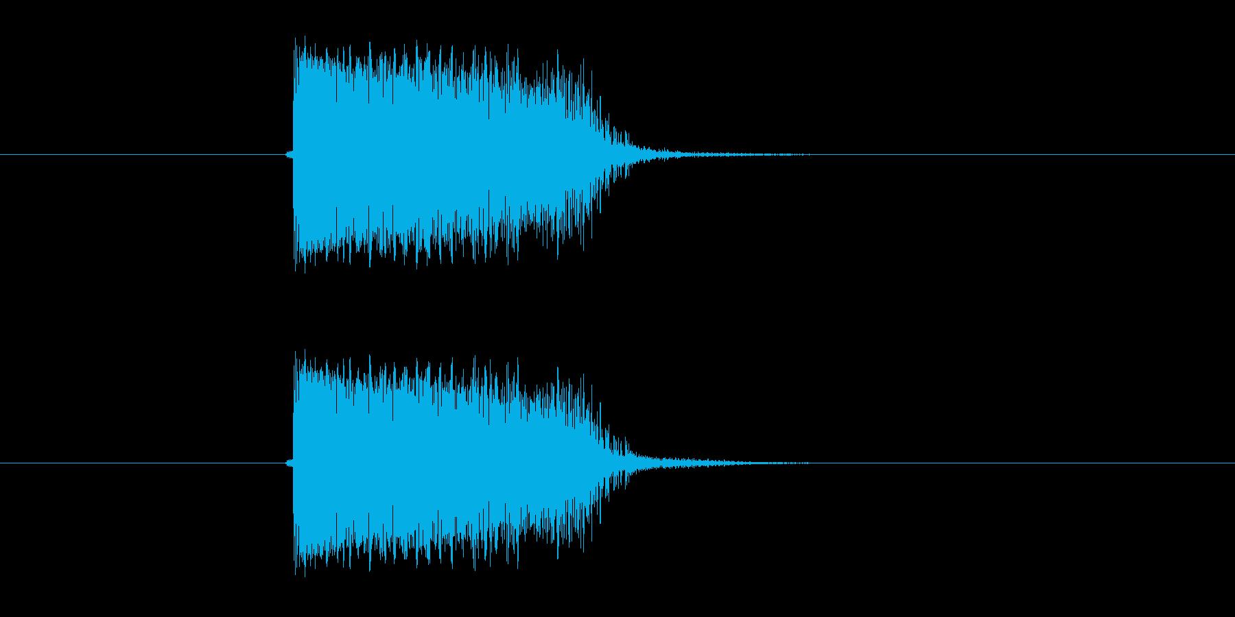 シンプルギター音(弦、弾く)の再生済みの波形
