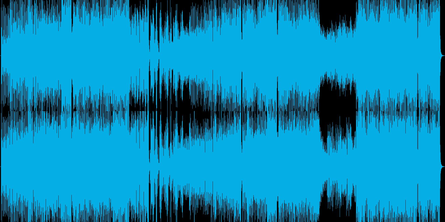 ノリノリで夢があるハウスビートのポップスの再生済みの波形