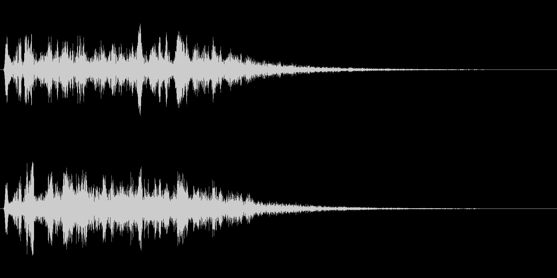 キラキラ系(アップ音)の未再生の波形