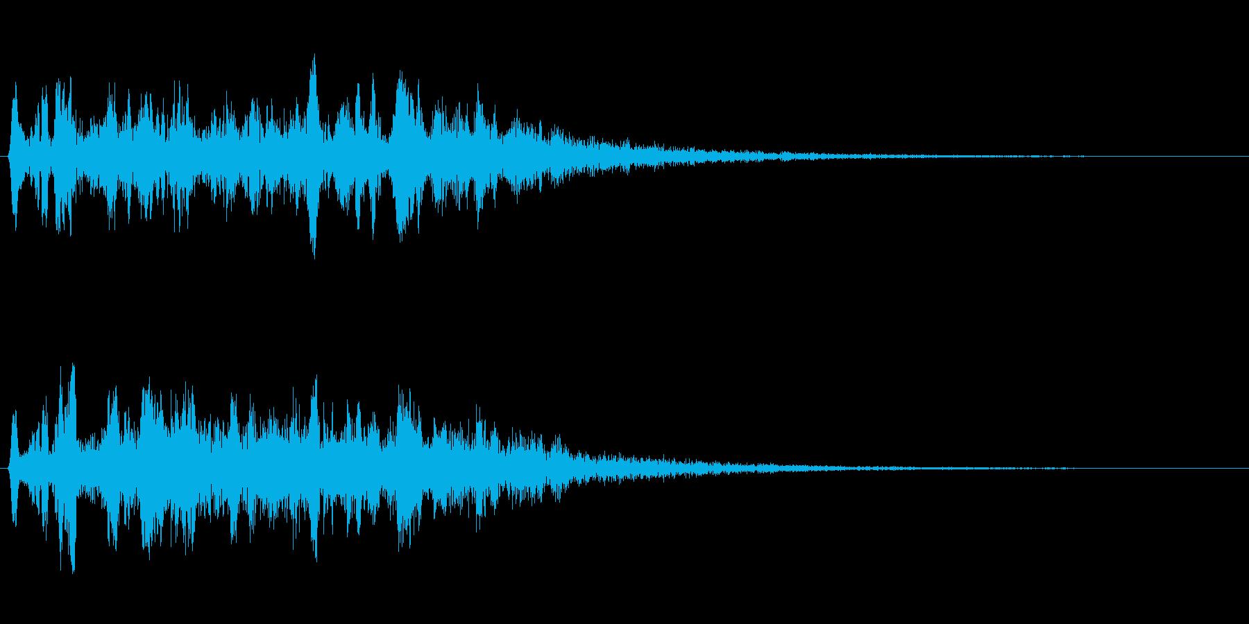 キラキラ系(アップ音)の再生済みの波形