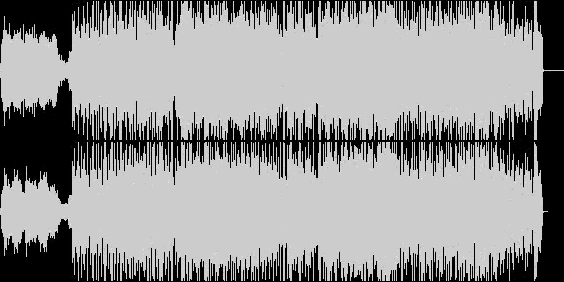 ロックでファンキーな曲の未再生の波形