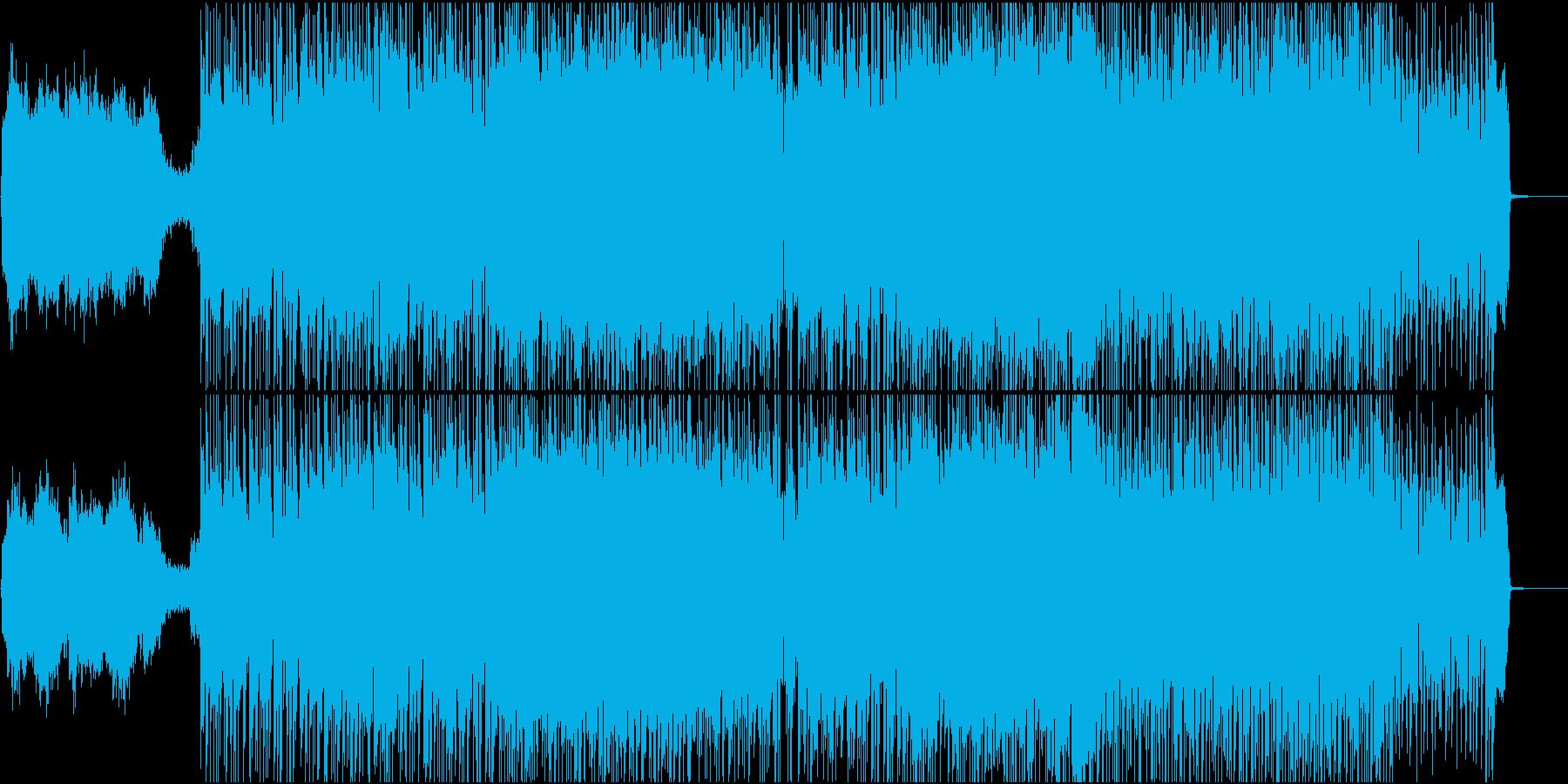 ロックでファンキーな曲の再生済みの波形