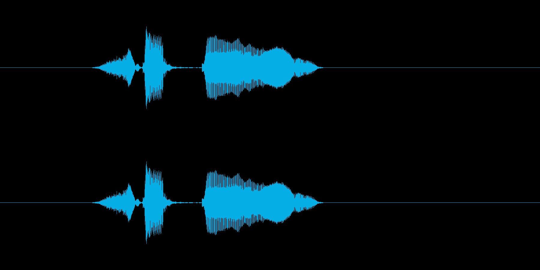 ストップーの再生済みの波形