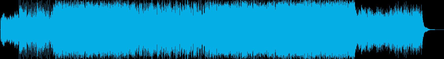 ノリのいいポップスの再生済みの波形