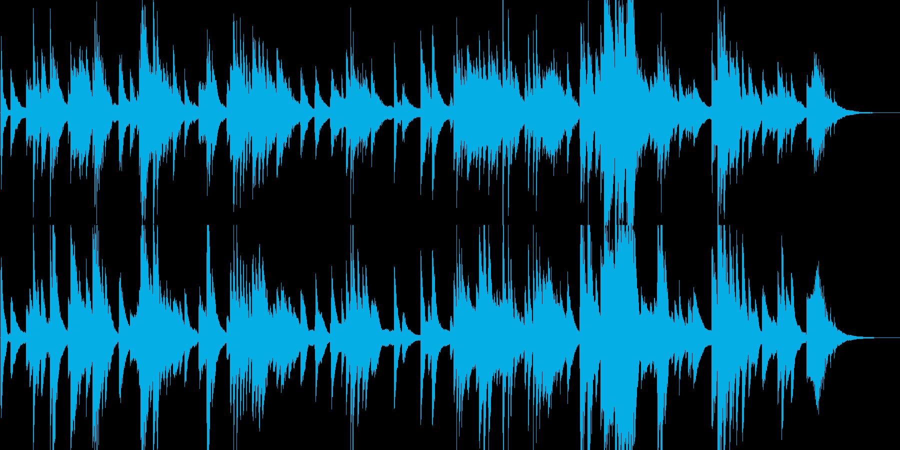 ダークでジャスフレーバーなピアノソロの再生済みの波形