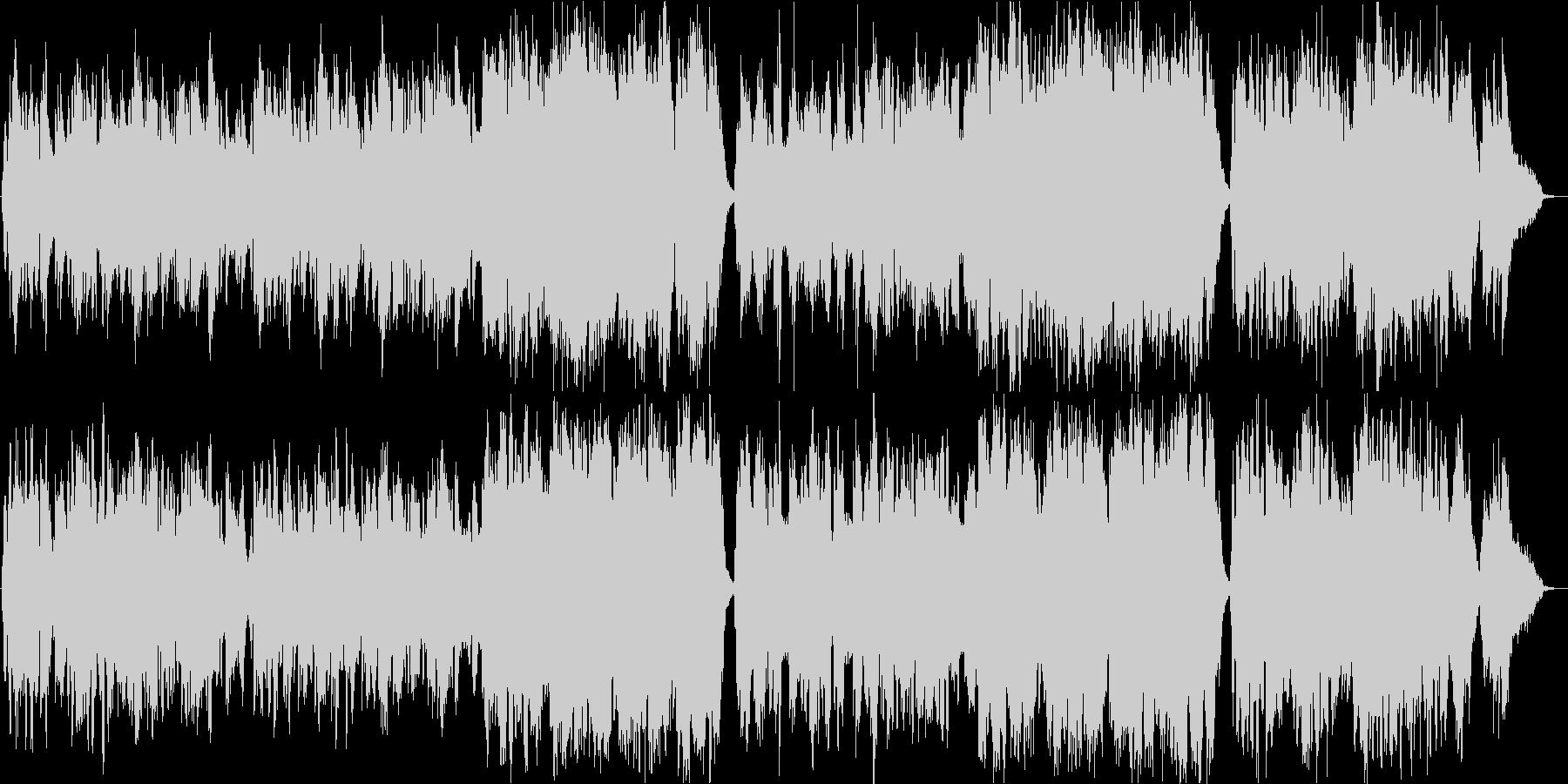 生演奏チェロ二重奏とピアノの未再生の波形