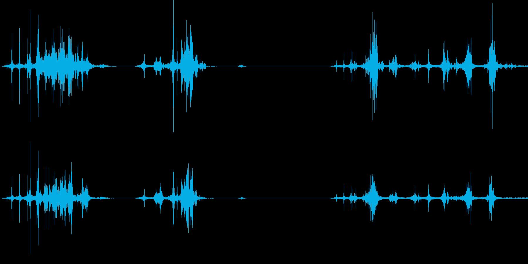 本のページをめくる音(パラパラ)の再生済みの波形