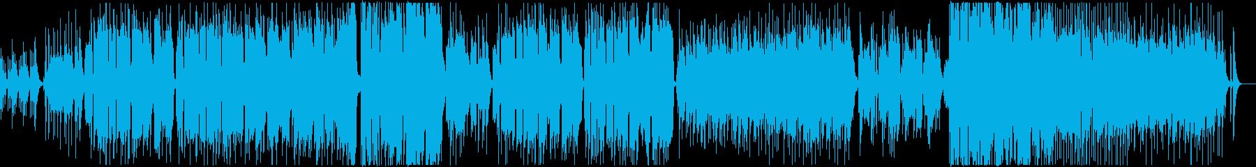 ウクレレが中心のやさしいバラードの再生済みの波形