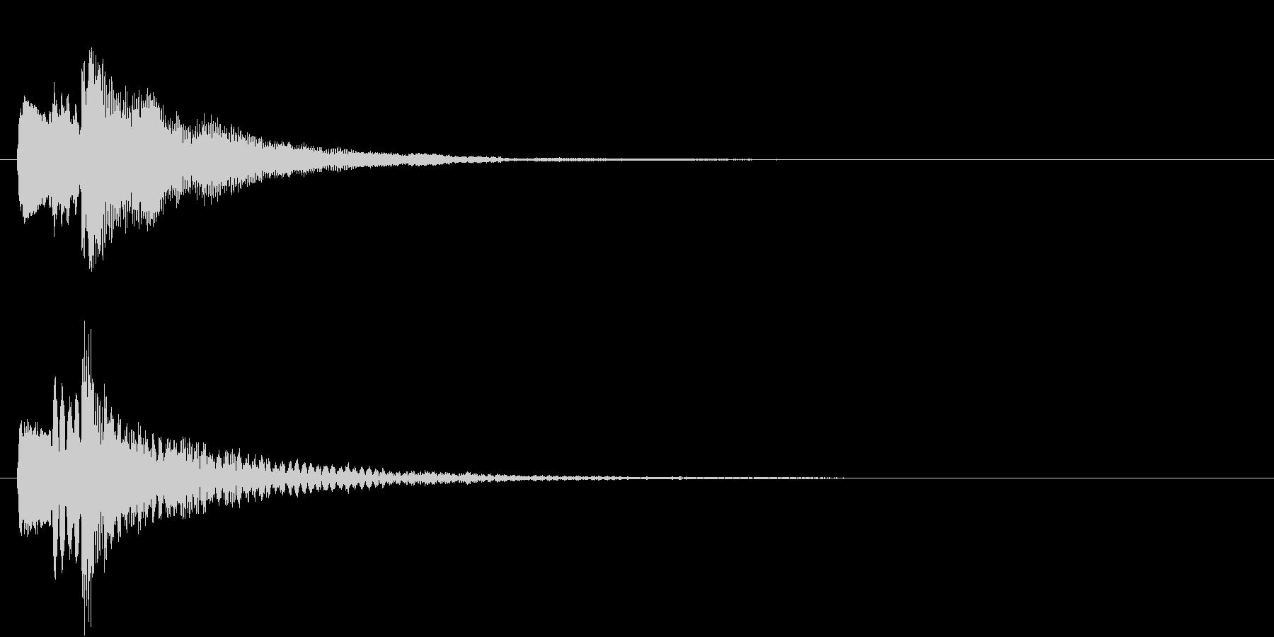 ハープによる決定ボタン音の未再生の波形