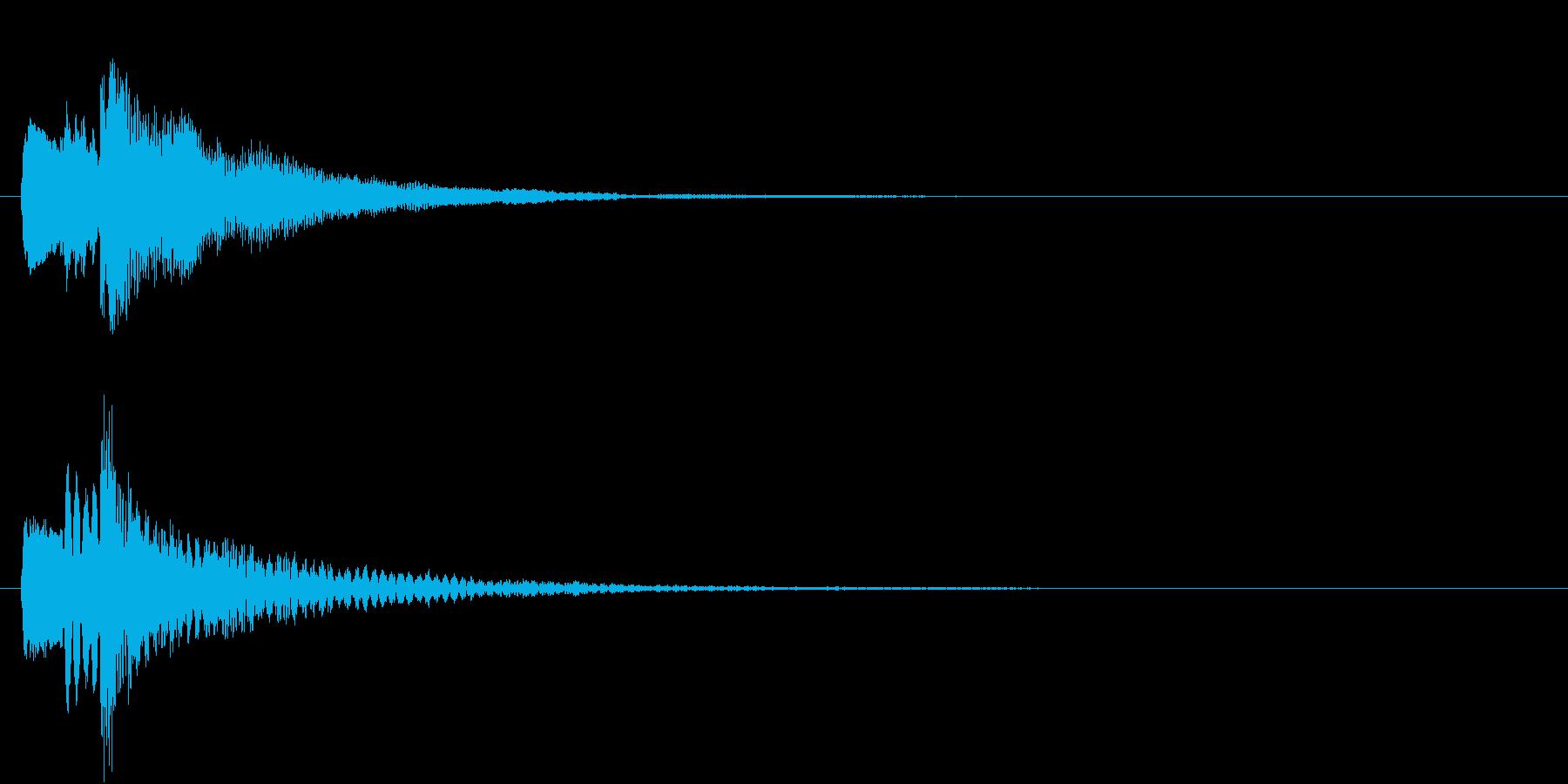ハープによる決定ボタン音の再生済みの波形