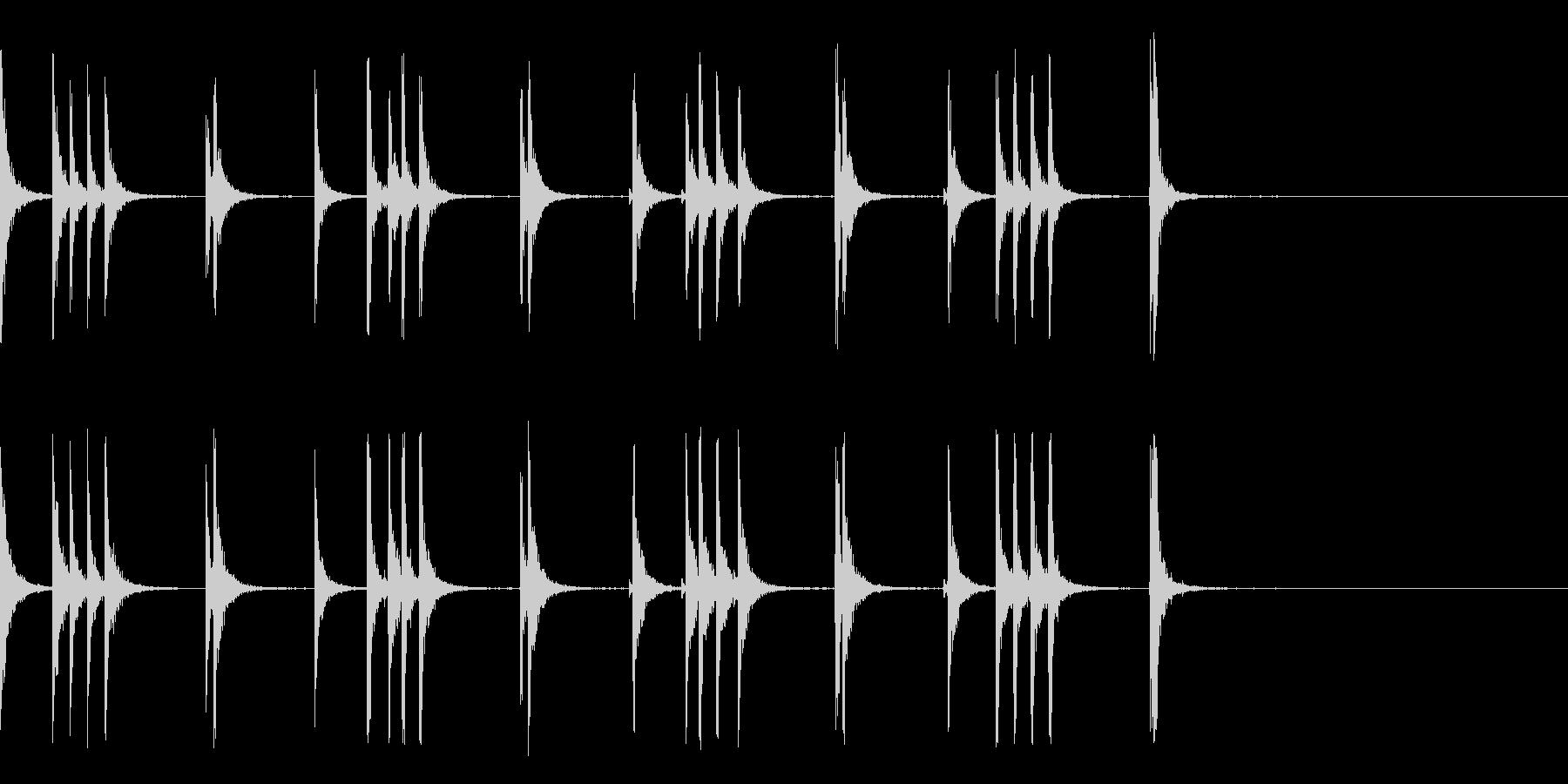 カスタネット!フラメンコフレーズ1の未再生の波形