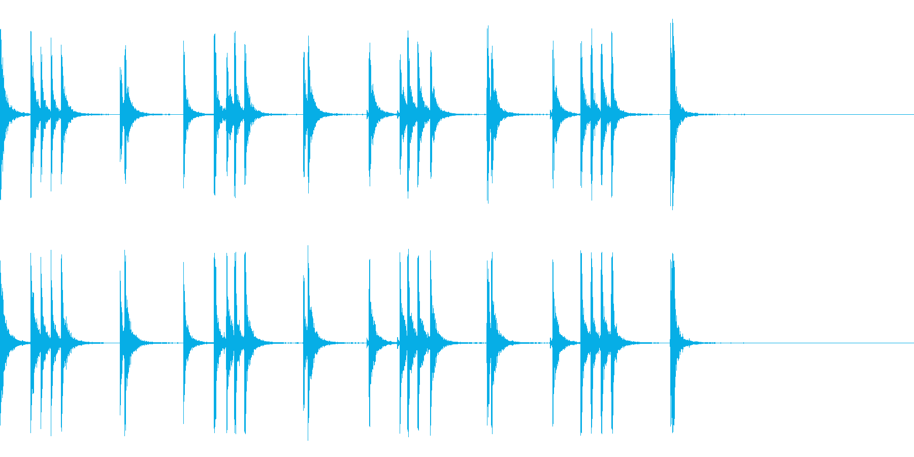 カスタネット!フラメンコフレーズ1の再生済みの波形