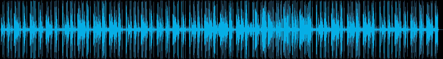 日常の会話シーンで流れる曲の再生済みの波形