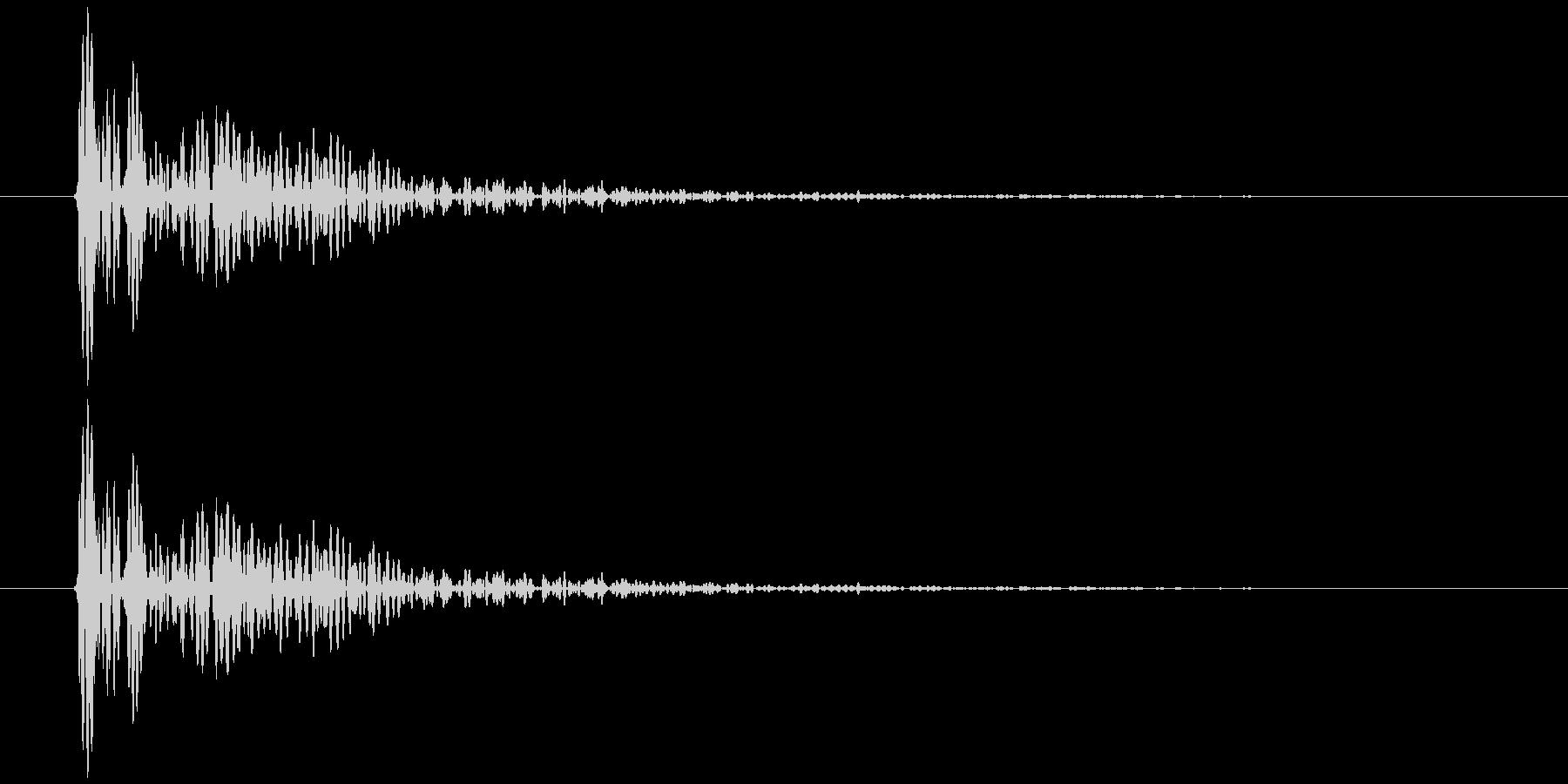 板を叩く音3の未再生の波形