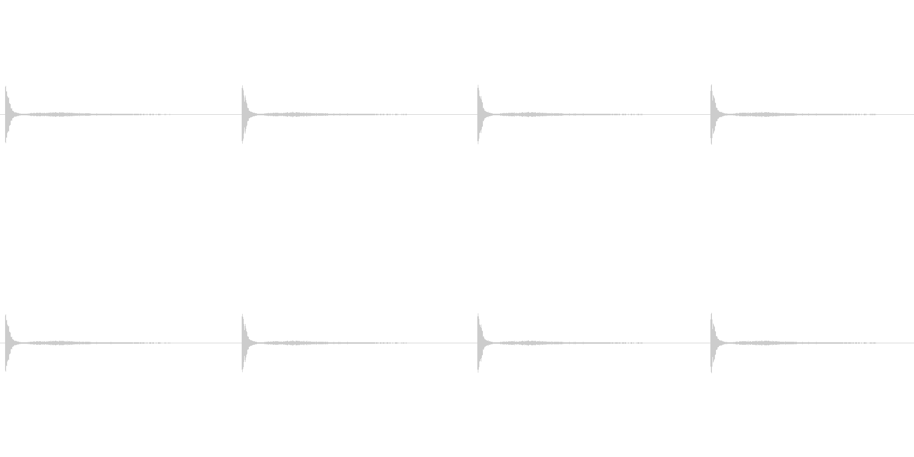 迫る針の音ですの未再生の波形