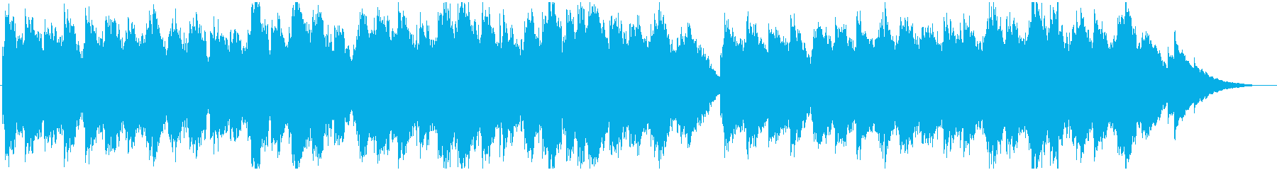 幻想的なリラックスBGMの再生済みの波形
