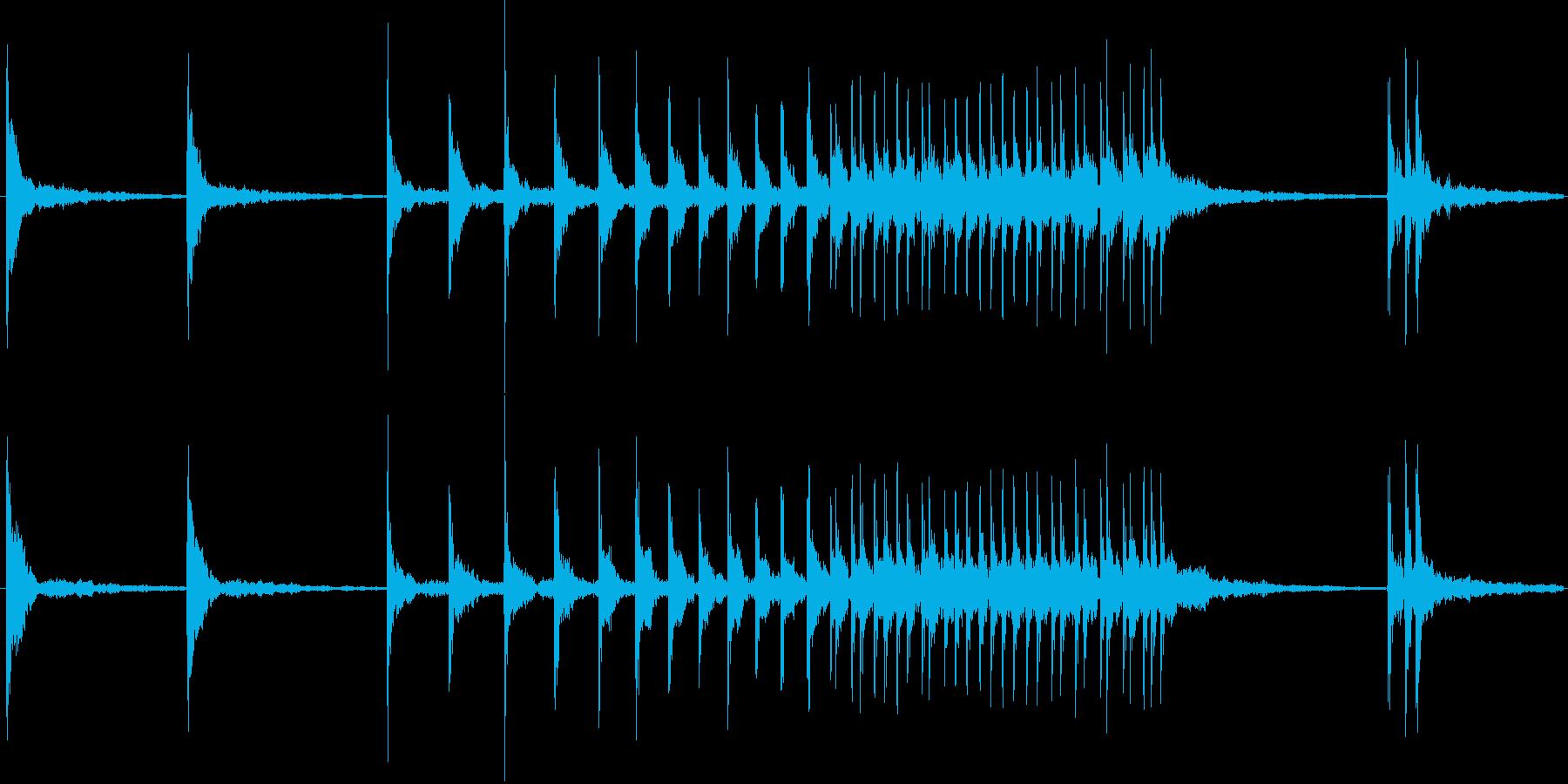 鼓の連打音の再生済みの波形