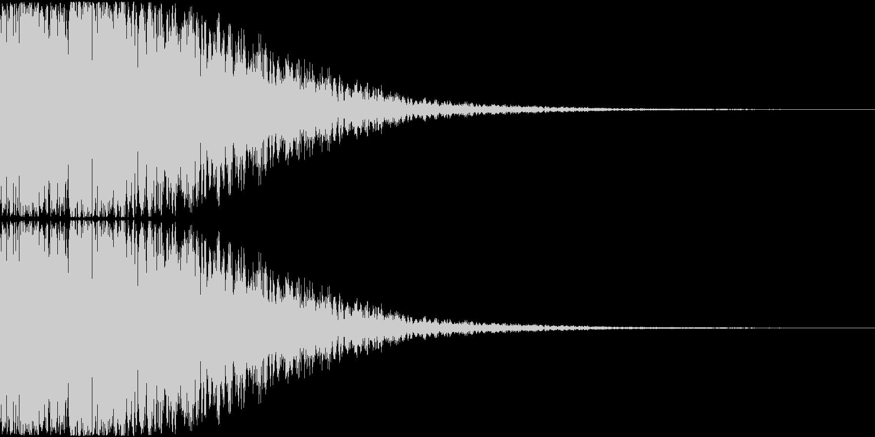 カキーン(金属バットのイメージ効果音)の未再生の波形