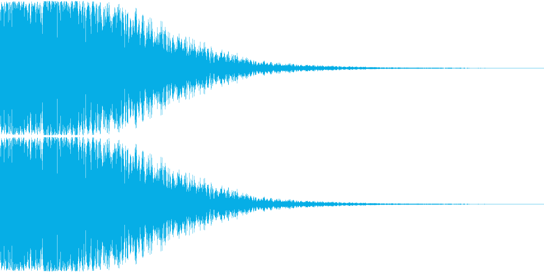 カキーン(金属バットのイメージ効果音)の再生済みの波形