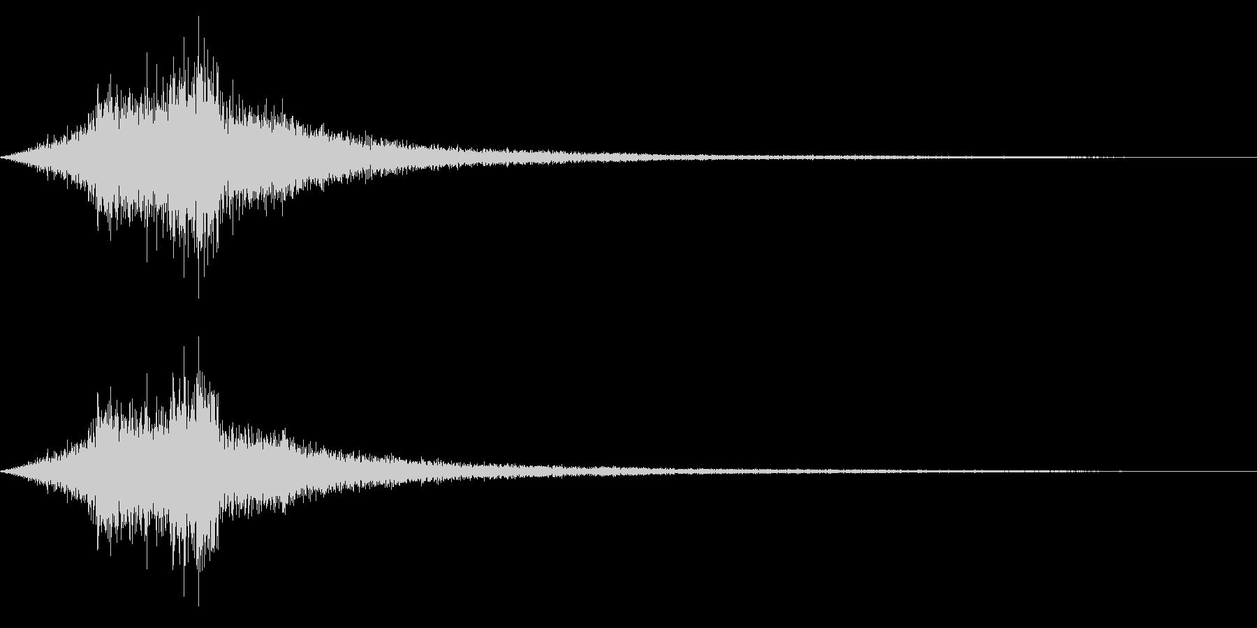 ホラー系アタック音30の未再生の波形